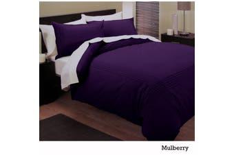 Belmondo 225TC Pintuck Quilt Cover Set DOUBLE Mulberry by Belmondo