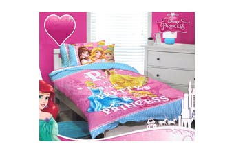 Princess Pink Quilt Cover Set Single