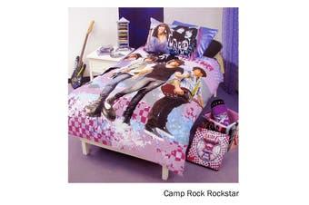 Camp Rock Rockstar Quilt Cover Set Single by Disney