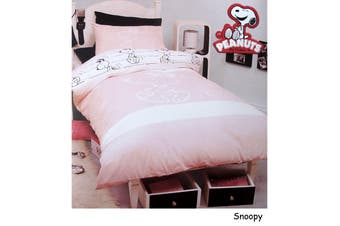 Snoopy Quilt Cover Set Single