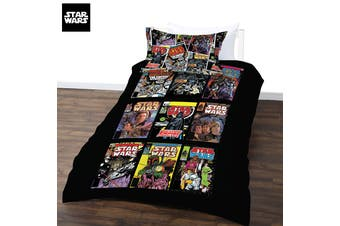 Star Wars Comics Quilt Cover Set Double
