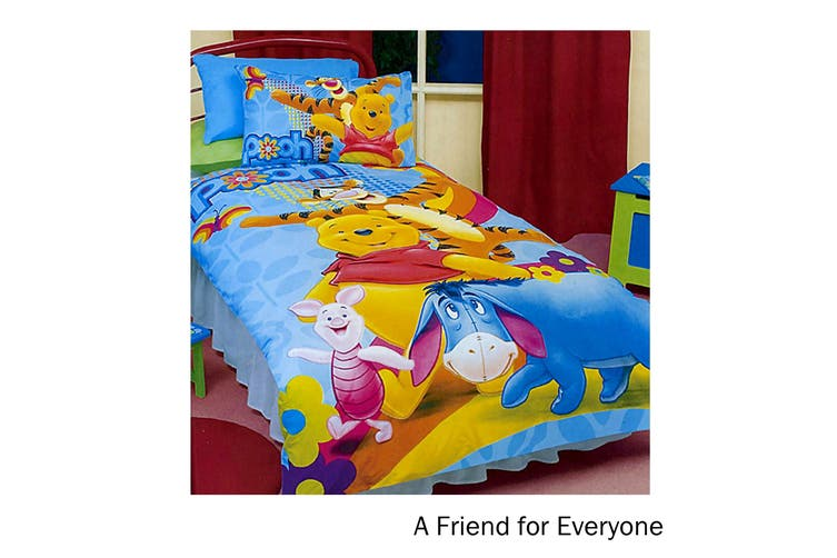 Winnie The Pooh Quilt Cover Set A Friend for Everyone Double by Disney