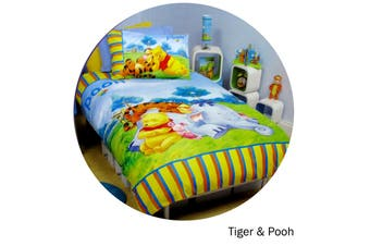 Winnie The Pooh Quilt Cover Set Tiger & Pooh Single by Disney