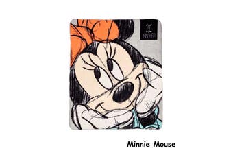Polar Fleece Throw Rug Minnie Mouse by Disney