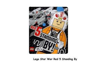 Polar Fleece Throw Rug Lego Star War Red 5 Standing By