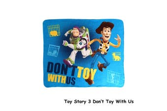 Polar Fleece Throw Rug Toy Story 3 Don't Toy With Us