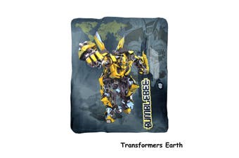 Polar Fleece Throw Rug Transformers Earth