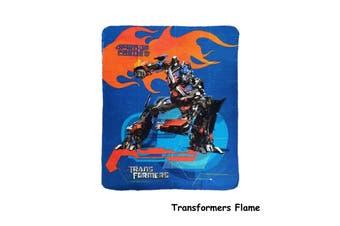Polar Fleece Throw Rug Transformers Flame