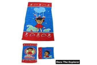 3 Pce Kids Licensed Beach Towel Set Dora the Explorer by Disney