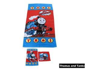 3 Pce Kids Licensed Beach Towel Set Thomas and Tanks by Disney