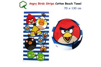 Angry Birds Stripe 100% Cotton Bath / Beach Towel