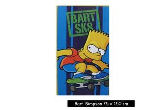 Kids Licensed Bart SK8 Simpsons Beach Towel by Disney