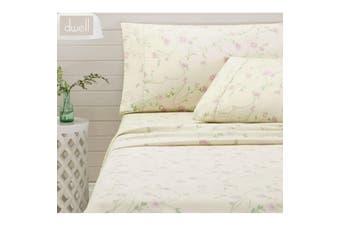 Bettina Lilac Cotton Flannelette Sheet Set Single by Dwell
