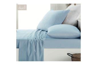 Pale Blue Cotton Flannelette Sheet Set Single