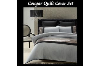 Cougar Quilt Cover Set DOUBLE