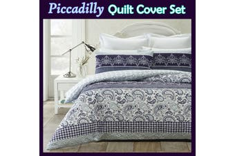 Piccadilly Quilt Cover Set DOUBLE