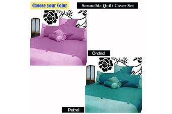 Scrunchie Orchid Quilt Cover Set SINGLE