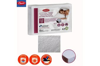 Cotton Terry Waterproof Mattress Protector KING SINGLE