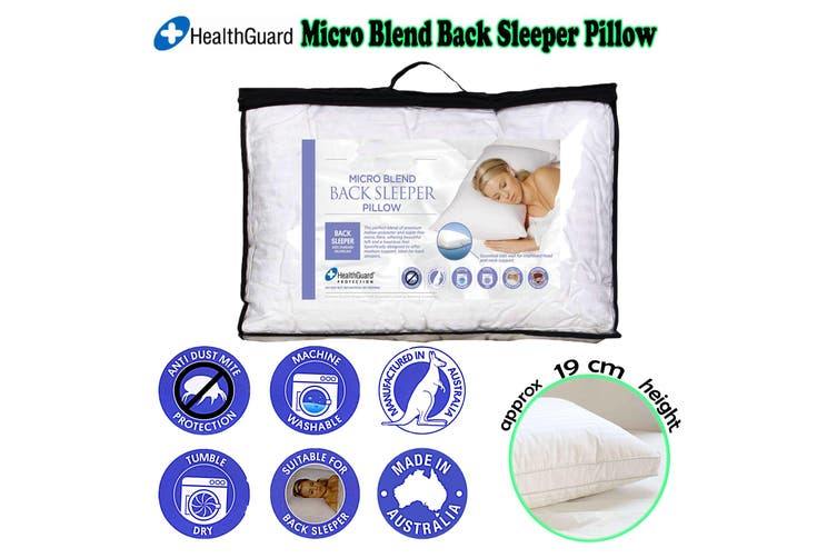 Micro Blend Back Sleeper Pillow by Easyrest