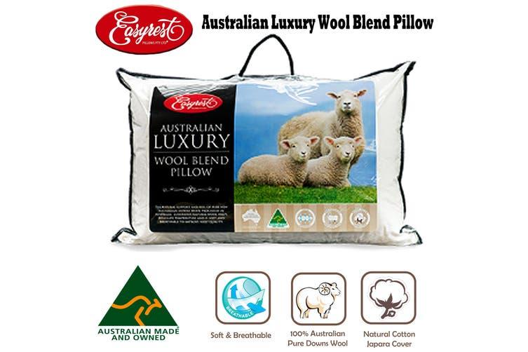 Australian Luxury Wool Blend Standard Pillow by Easyrest