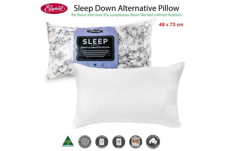 Sleep Down Alternative Standard Pillow Suits Back Sleeper by Easyrest