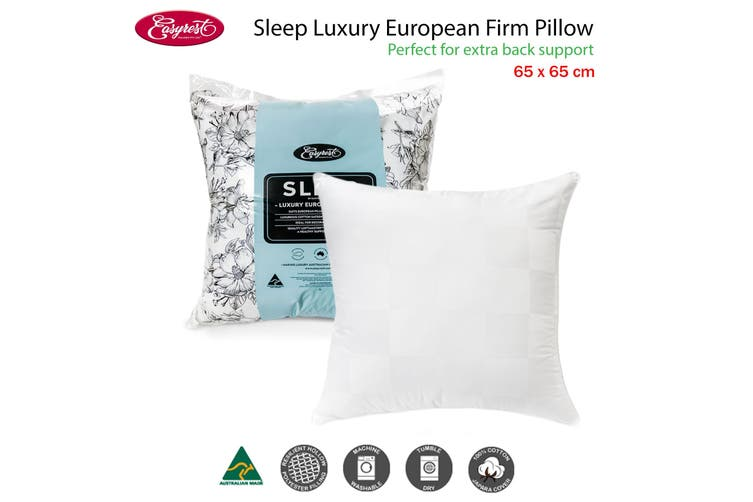 Sleep Luxury European Firm Pillow by Easyrest