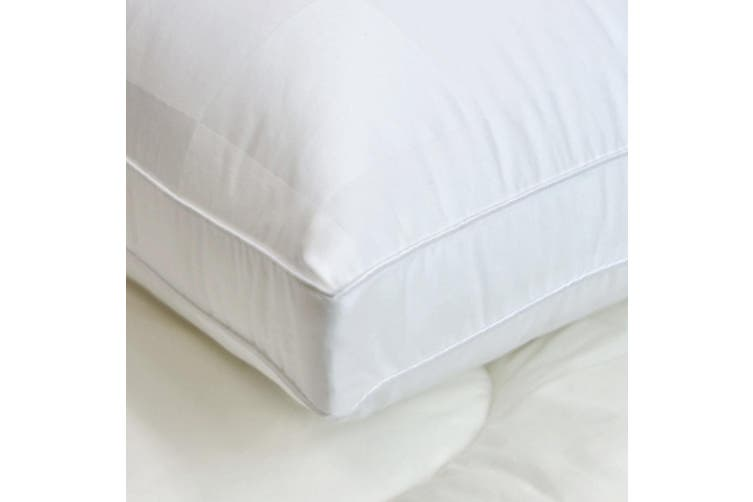Sleep Twin Pack Gusseted Medium Standard Pillows by Easyrest