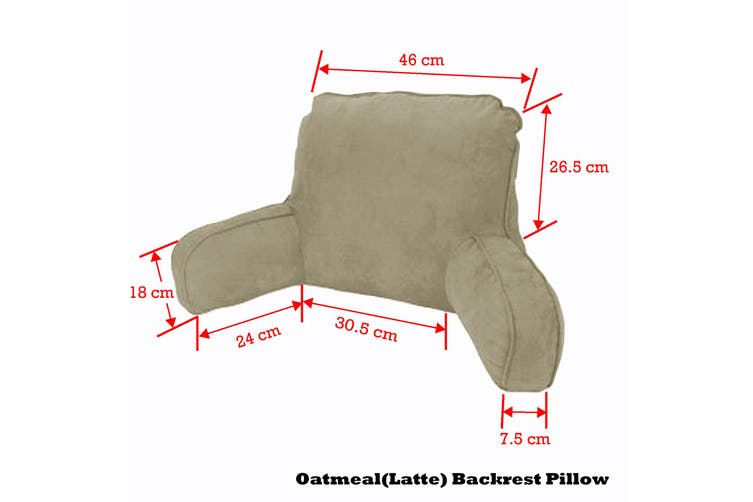 Standard Backrest Pillow Oatmeal (Latte) by Easyrest