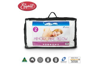 Twin Pack Cloud Support Memory Fibre Standard Pillows by Easyrest