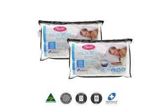 Two Microfibre Standard Gusseted Pillows by Easyrest