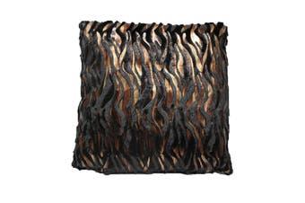 Fashion Burn-Out Cushion Dallas Black by Hotel Living