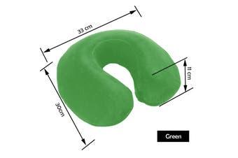 Memory Foam Neck Pillow GREEN