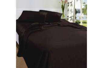 875TC Egyptian Cotton Sateen Sheet Set Chocolate Queen by Fieldcrest