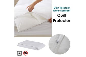 Stain/ Water Resistant Quilt Protector Double