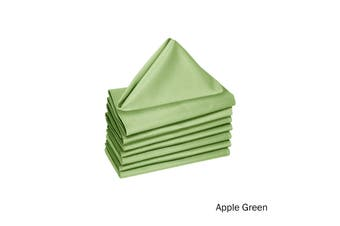 Set of 8 Cotton Napkins Apple Green by Hoydu