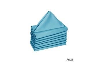 Set of 8 Cotton Napkins Aqua by Hoydu