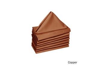 Set of 8 Cotton Napkins Copper by Hoydu
