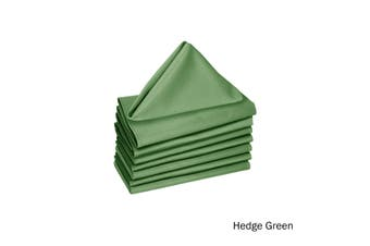 Set of 8 Cotton Napkins Hedge Green by Hoydu