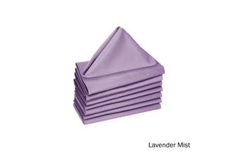Set of 8 Cotton Napkins Lavender Mist by Hoydu