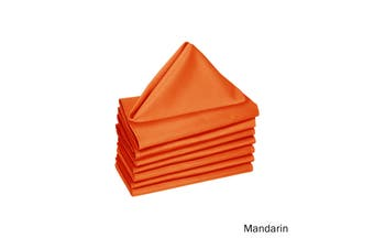 Set of 8 Cotton Napkins Mandarin by Hoydu