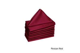 Set of 8 Cotton Napkins Persian Red by Hoydu