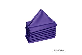 Set of 8 Cotton Napkins Ultra Violet by Hoydu