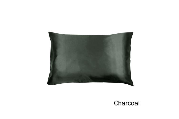 Satin Standard Pillowcase Charcoal by Invitation