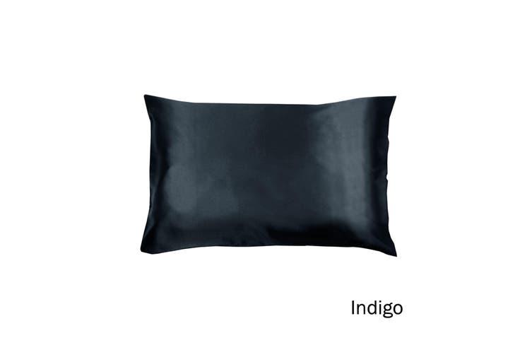 Satin Standard Pillowcase Indigo by Invitation