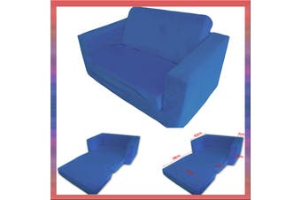 Kids Flip Out Sofa BLUE Small