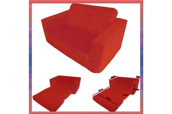 Kids Flip Out Sofa RED Small