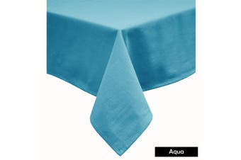Cotton Blend Table Cloth Aqua by Hoydu