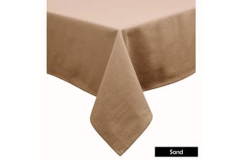 Cotton Blend Table Cloth Sand by Hoydu