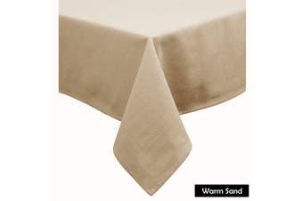 Cotton Blend Table Cloth Warm Sand by Hoydu