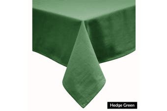 Cotton Blend Table Cloth Hedge Green by Hoydu